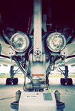 Luzes de aterrissagem na engrenagem Imagem de Stock Royalty Free