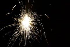 Luzes de Bengal efervescentes em um feriado alegre Foto de Stock Royalty Free