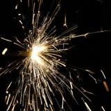 Luzes de Bengal efervescentes em um feriado alegre Imagem de Stock