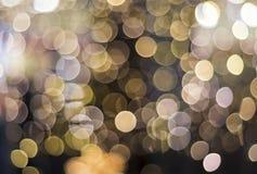 Luzes de Bokeh concentradas Fotos de Stock