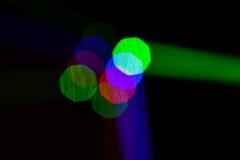 Luzes de Bokeh, luzes na fase Fotos de Stock Royalty Free