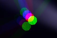 Luzes de Bokeh, luzes na fase Foto de Stock