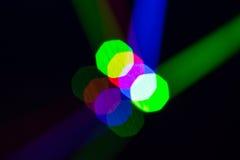 Luzes de Bokeh, luzes na fase Fotografia de Stock