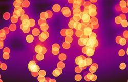 Luzes de Bokeh na rua Imagens de Stock