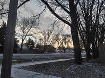 Luzes de céu do inverno Imagens de Stock Royalty Free