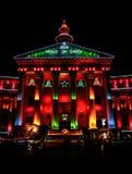 Luzes de Denver Civic Center Christmas imagens de stock royalty free