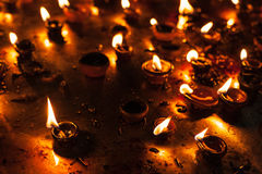 Luzes de Diwali Fotos de Stock