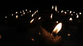 Luzes de Diya Imagem de Stock Royalty Free