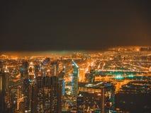 Luzes de Dubai Foto de Stock Royalty Free