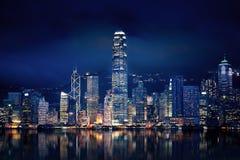 Luzes de Hong Kong Imagem de Stock Royalty Free