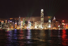 Luzes de Hong Kong Imagens de Stock Royalty Free