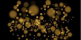 Luzes de incandescência abstratas claras do bokeh Bokeh luz o efeito isolado no fundo transparente Roxo e dourado festivos ilustração stock