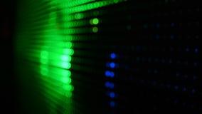 Luzes de incandescência coloridos do disco piscar do diodo filme