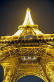 Luzes de incandescência da torre Eiffel foto de stock