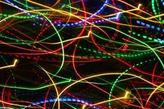 Luzes de incandescência do movimento Foto de Stock Royalty Free