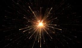 Luzes de incandescência, explosão da partícula ilustração stock