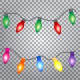 Luzes de incandescência para o projeto de cartão do feriado ilustração stock