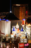 Luzes de Las Vegas na noite Fotografia de Stock Royalty Free