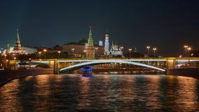 Luzes de Moscou imagens de stock