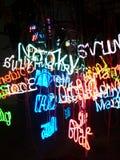 Luzes de néon Imagens de Stock Royalty Free