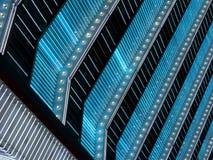 Luzes de néon azuis e brancas do famoso Fotos de Stock Royalty Free