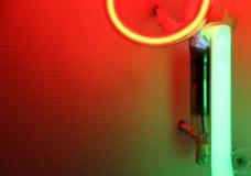 Luzes de néon coloridas, detalhe Fotografia de Stock