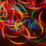 Luzes de néon do disco da dança Fotografia de Stock