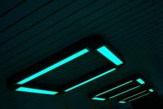 Luzes de néon verdes Imagem de Stock