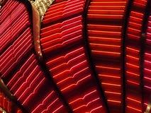 Luzes de néon vermelhas Fotografia de Stock Royalty Free