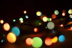 Luzes de Natal imagem de stock royalty free