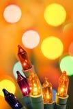 Luzes de Natal Foto de Stock