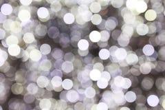 Luzes de Natal abstratas Defocused imagem de stock