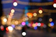 Luzes de Natal de Amsterdão fotografia de stock