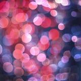 Luzes de Natal azuis do bokeh Imagens de Stock