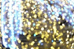 Luzes de Natal Bokeh do ano novo z 2019 z fotos de stock royalty free