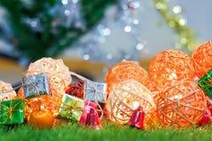 Luzes de Natal bonitas para o fundo Imagens de Stock