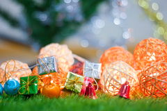 Luzes de Natal bonitas para o fundo Fotos de Stock