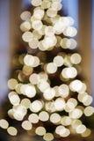 Luzes de Natal borradas. fotografia de stock
