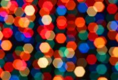 Luzes de Natal borradas Fotos de Stock Royalty Free