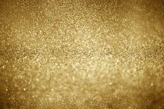 Luzes de Natal de brilho do ouro Fundo abstrato borrado fotos de stock