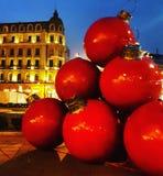 Luzes de Natal de Bucareste imagem de stock