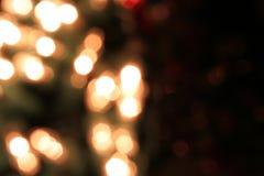 Luzes de Natal coloridas com espaço da cópia Imagens de Stock