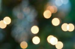 Luzes de Natal com efeito do bokeh imagens de stock royalty free