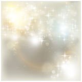 Luzes de Natal de prata Foto de Stock
