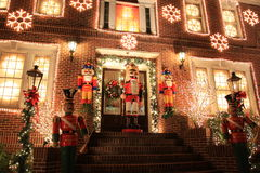 Luzes de Natal em Brooklyn Fotografia de Stock