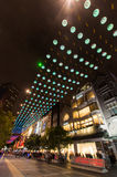 Luzes de Natal em Melbourne Bourke Street Mall Foto de Stock Royalty Free