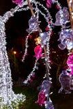Luzes de Natal em Salerno Imagens de Stock