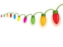Luzes de Natal festivas Fotografia de Stock