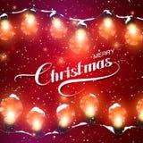 Luzes de Natal Ilustração do feriado do vetor ilustração royalty free