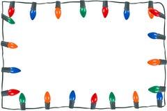Luzes de Natal isoladas Fotografia de Stock